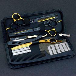 5,5/6,0 Venta de tijeras japonesas para el cabello tijeras de teflón tijeras de peluquería baratas tijeras de peluquería afeitadora corte de pelo
