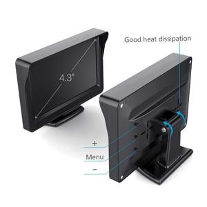 Image 4 - YuanTing سيارة العالمي السلكية للماء لوحة ترخيص للرؤية الليلية احتياطية عكس كاميرا + 4.3 بوصة TFT LCD شاشة الرؤية الخلفية