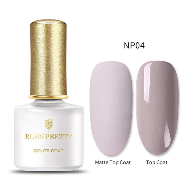 BORN PRETTY 57 Colors Gel Nail Polish Matt Effect Semi Permanent Soak Off UV Gel Polish Nail Art Gel Varnish Need Matte Top Coat