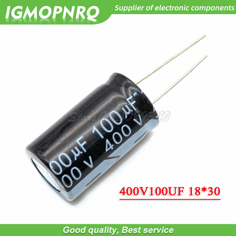 5PCS 400V100UF 18*30mm 100UF 400V 18*30 Aluminum Electrolytic Capacitor