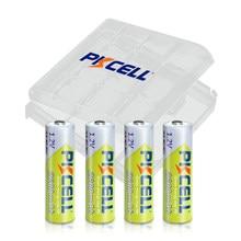 Baterias recarregáveis da bateria 2a bateria com caixa do caso da retenção da bateria aa 4pc x pkcell aa baterias ni-mh 2600mah 1.2v aa