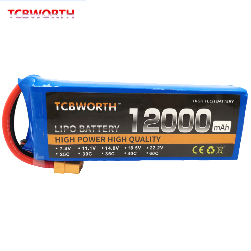 TCBWORTH RC <font><b>Lipo</b></font> Battery <font><b>3S</b></font> 11.1V <font><b>12000mAh</b></font> 25C For RC Airplane Drone Quadrotor Helicopter Car Boat Tank Batteries AKKU image