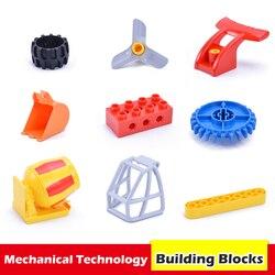 Duplos Parts Blocks DIY Assembly Mechanical Engineering Gear Science Educational Accessories Duplos Building Blocks Toys