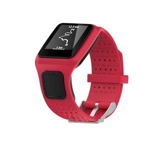 Image 4 - Bracelet pour TomTom 1 multi sport GPS HRM CSS AM Cardio coureur montre Silicone souple Bracelet Bracelet