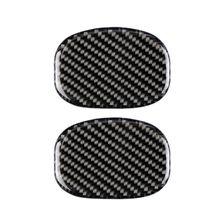 2 шт., наклейки на сиденье из углеродного волокна для салона автомобиля, накладные наклейки для Mini Cooper F55 F56, аксессуары для стайлинга автомобилей