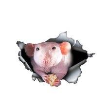 Креативная крыса без волос 3d наклейка для питомца автомобиля