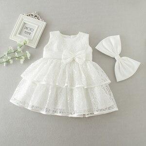 Кружевная одежда для маленьких девочек; Платья для маленьких девочек; Вечерние платья для новорожденных на свадьбу и Крещение; Платье для д...