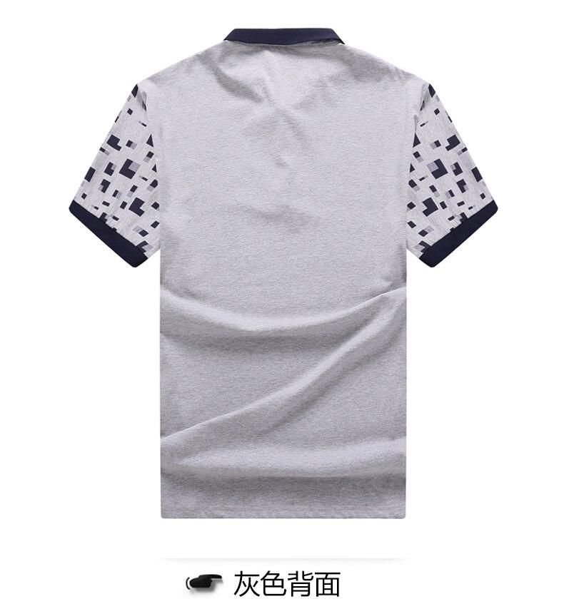 algodão polos moda impressão manga masculina de