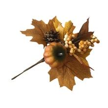 Artificial Maple Leaf Pumpkin Branches Ornaments Flower Arrangement Decorate Christmas in Autumn