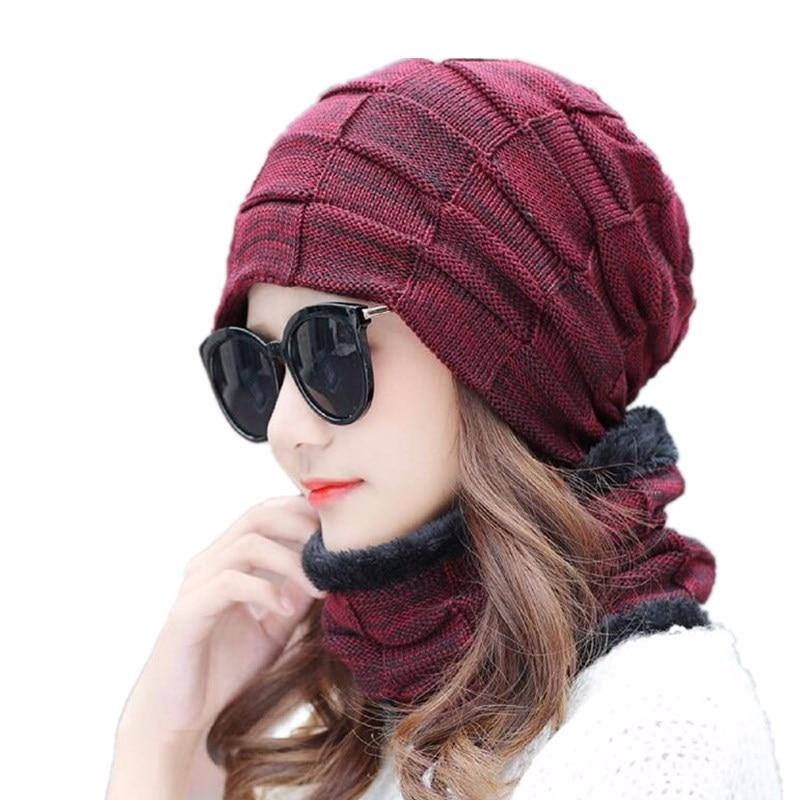 OZyc Winter Hat Scarf Skullies Beanies For Men Knitted Hat Women Mask Thick Balaclava Earflap Wool Bonnet Male Beanie Hats Cap