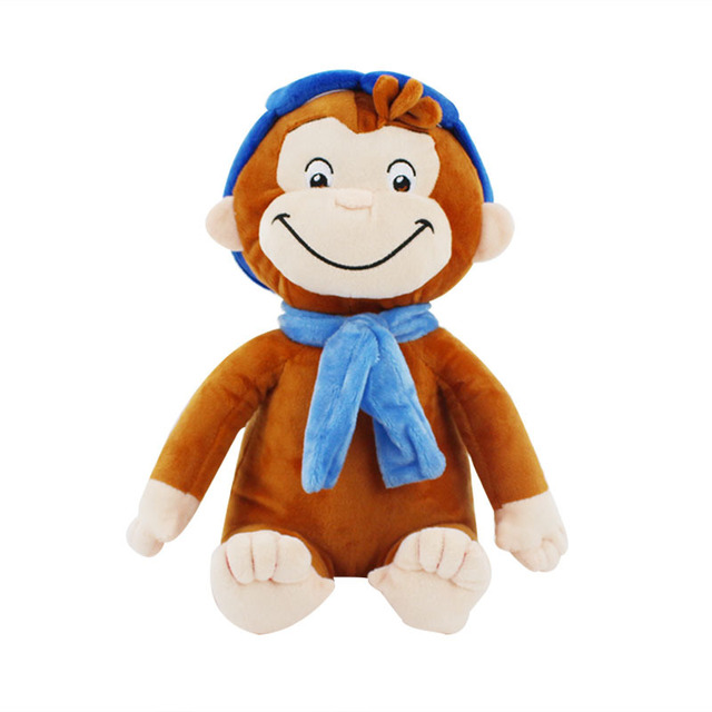 30cm Cute Monkey 4 STYLE Curious George Plush Figure Toy Soft Plush Stuffed Collectible Toy Christmas Gift Toys for Girls