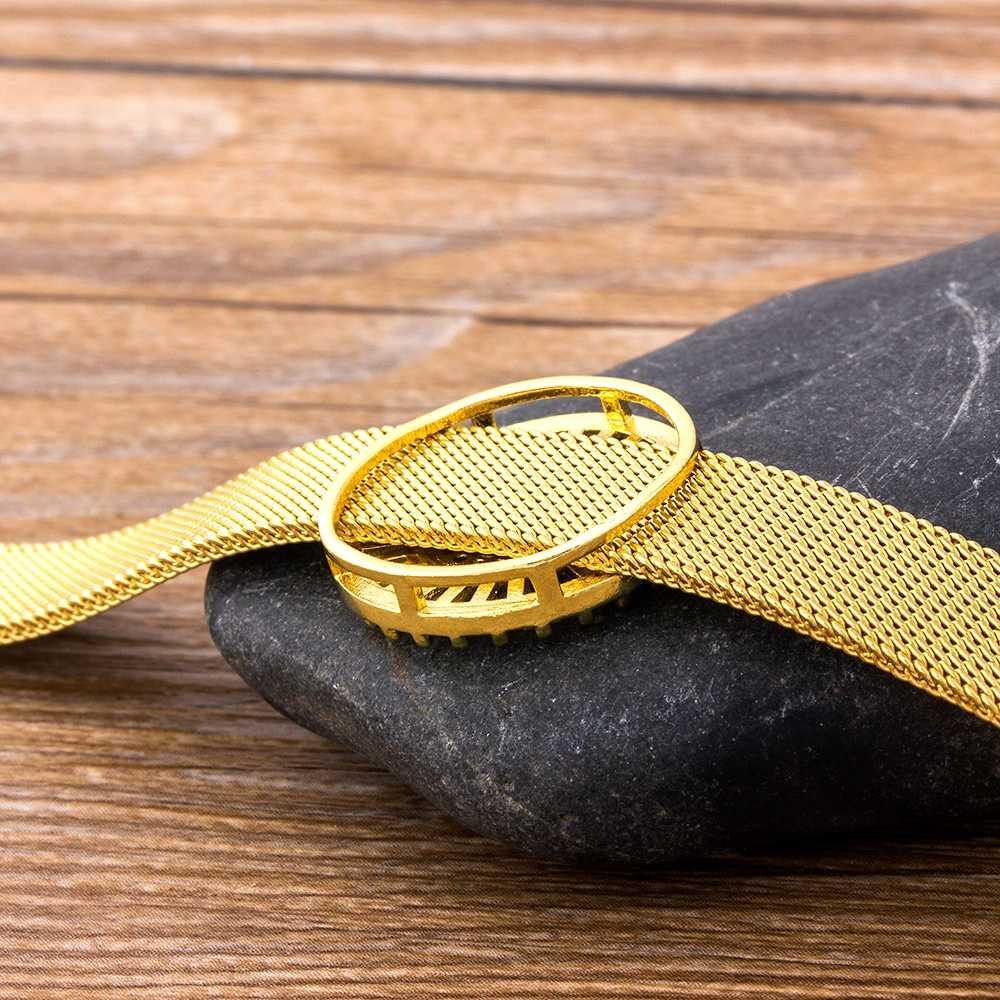 קלאסי נירוסטה שעון חגורה צמיד מיקרו פייב CZ קריסטל 26 אותיות שם צמידי הטוב ביותר מסיבת חתונה תכשיטי מתנה