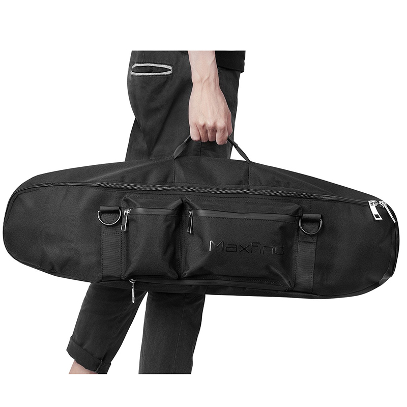 Portable Polyester Black Waterproof Skateboard Bag 0.6mm Thicknes Backpack Hand Storage Pack  Longboard Case 83cm*22.5cm*12.5cm