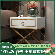 Nordic Minimalist Bedside Table Bedroom Hotel Paint Bedside Cabinet Storage Storage Small Wooden Cabinet Storage Bedside Table