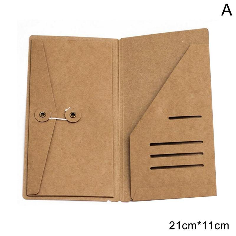 Kraft Inner Sheet Skin Business Card Paper Clip 21*11cm Archivadora File Pouch A4 Bill Bag Waterproof Carpeta Folder Docume K9A5