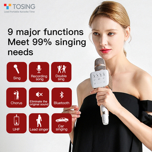 Image 5 - TOSING V2 New product Versatile high quality wireless karaoke Birthday Speaker portable handheld microphone for home theatre ktv