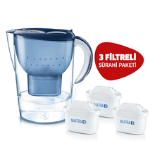 BRITA Blue Marella XL 3 Replacement Filter Water Must Purify Jug package