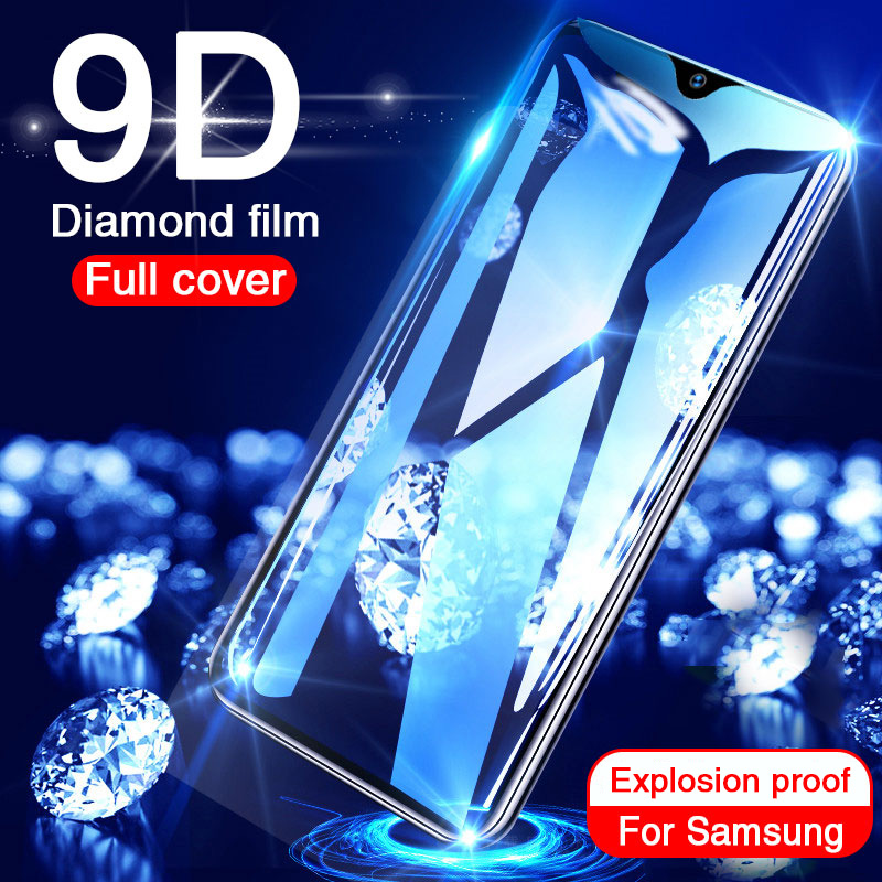 9D Tempered Glass On The For Samsung Galaxy A50 A20 A10 Screen Protector For Samsung A70 A40 A30 Full Cover Glass On Samsung A50