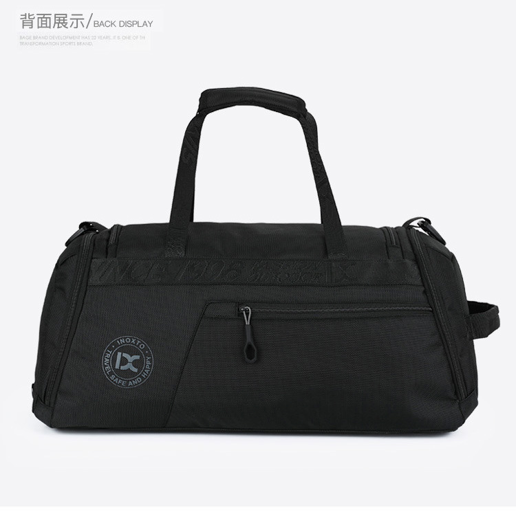 Canvas Travel Bag Travel Bag Travel Handbag Travel Double Waterproof Dry And Wet Separation Sports Fitness Bag Large Capacity Mobile Sports Bag Black