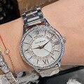 Gypsophila Diamant Design Frauen Uhren Mode Silber Runde Zifferblatt Edelstahl Band Quarz Armbanduhr Geschenke relogio feminino