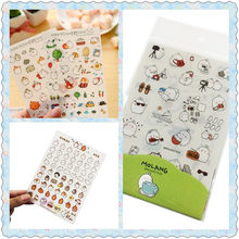 6pcs/pack New Korea Decorative Diary Planner Album Seal Decoration DIY Scrapbooking Stickers