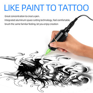 Image 5 - Atomus Tattoo Pen Rotary Motor Korte Tattoo Gun Machine Met Rca Clip Cord Tattoo Machine Tatoeëerder Body Art
