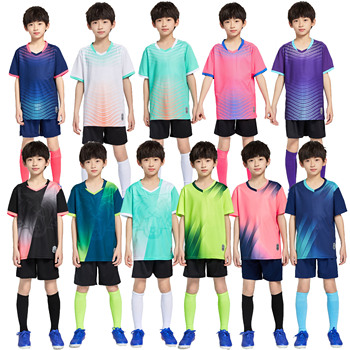 Chłopcy koszulki piłkarskie dres dzieci piłka nożna mundury sportowe dzieci bawią się piłka odzież sportowa zestawy dziecięca koszulka piłkarska garnitur tanie i dobre opinie Dobrze pasuje do rozmiaru wybierz swój normalny rozmiar CN (pochodzenie) POLIESTER SHORT K8836 K8835 K8833 Children Boys Girls Kid Child Kids