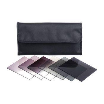 AMS-7X ND2 ND4 ND8 graduado ND2 ND4 ND8 juego de filtros de Color + funda para Cokin Serie P