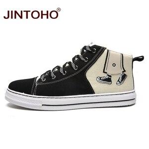 Image 5 - JINTOHO baskets unisexes à la mode, bottes en toile, chaussures unisexes à la mode pour hommes, hiver décontracté