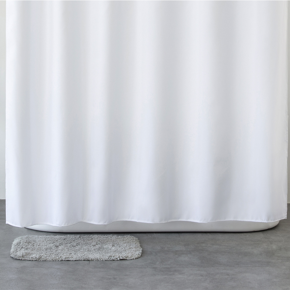 Aimjerry Waterproof Polyester Fabric Bathroom White Shower Curtain Eco friendly london curtains 71*71 inch 12 Hooks 2018|shower curtain|white shower curtainlondon curtains - AliExpress