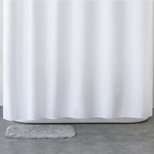 Купить с кэшбэком Aimjerry Waterproof Polyester Fabric Bathroom White Shower Curtain Eco-friendly london curtains 71*71 inch 12 Hooks 2017