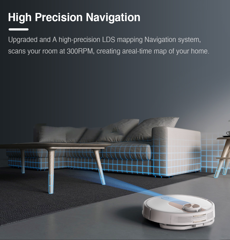 VIOMI SE Y-type Electric Mop Sweeping Robot Vacuum Cleaner, Mijia APP, Save 5 Maps 7 Schedule, Carpet Hair Pet Dust Collecto 3