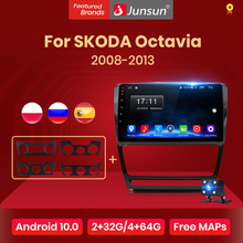 Junsun Android 10 Autoradio Ai Voice Control Multimedia Video Audio Player Navigatie Voor Skoda Octavia 2 2008-2013 a5 Geen 2Din