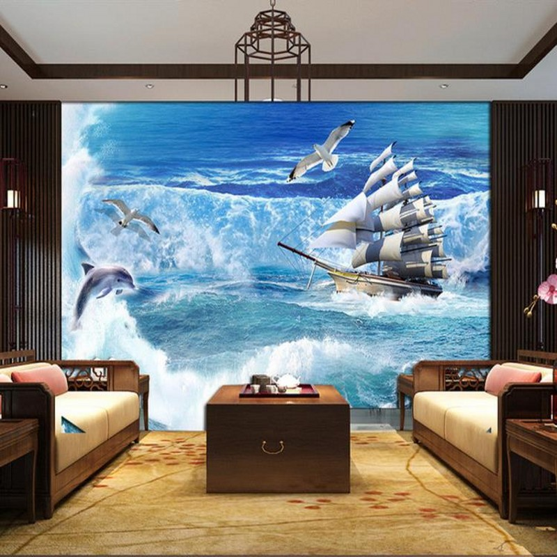Dropship Custom Mural A Large Scenic Wallpaper Mural TV Background Bedroom Living Room Sofa Wallpaper Wall Papers Home Decor