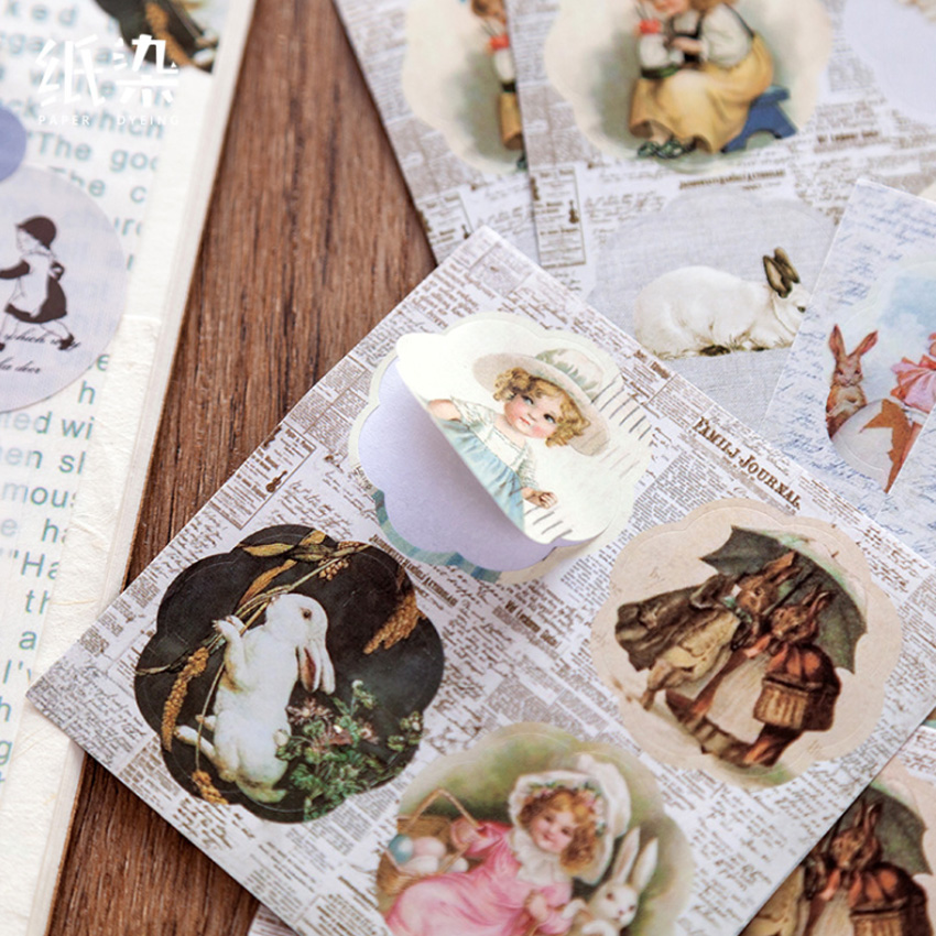 6pcs/pack Romantic Label Diary Stationery Decorative Stickers Diary Stationery Album Stickers
