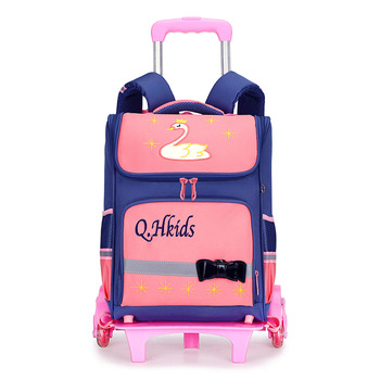 Hot Sale Removable Children School Bags 3 Wheels Child Climb Stair Trolley Backpacks Kids Wheeled Bags Boys Girls latop backpack
