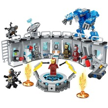 554pcs Legoingly Avenger Alliance Iron Man Building Blocks Toy Kit DIY Educational Children Birthday Christmas Gifts