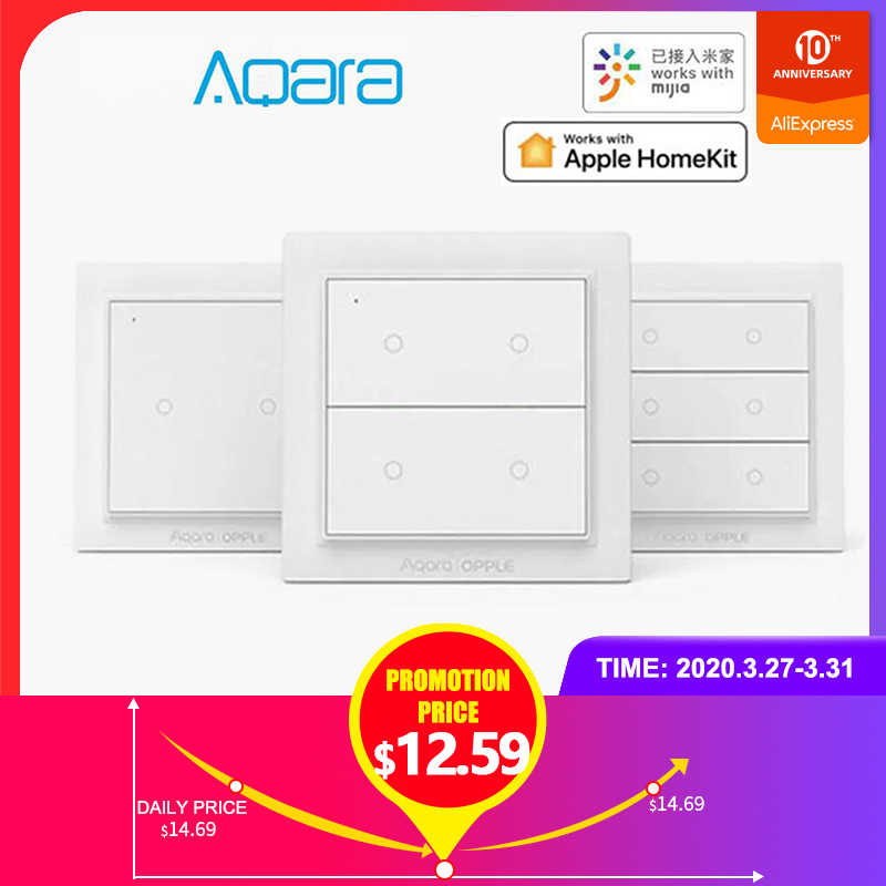 Asli Aqara Opple Wireless Smart Switch Versi Internasional ZigBee 3.0 Bekerja dengan Mijia APP Apple Homekit Wall Switch