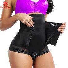 Guudia barriga controle calcinha aberta virilha shapers corpo feminino shapewear emagrecimento calcinha cintura trainer pós-parto cinto lac