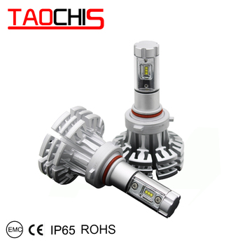 TAOCHIS Auto Head Light Led Lamps 9005 Silver Color 3000K 6500K 8000K Waterproof For Car Styling