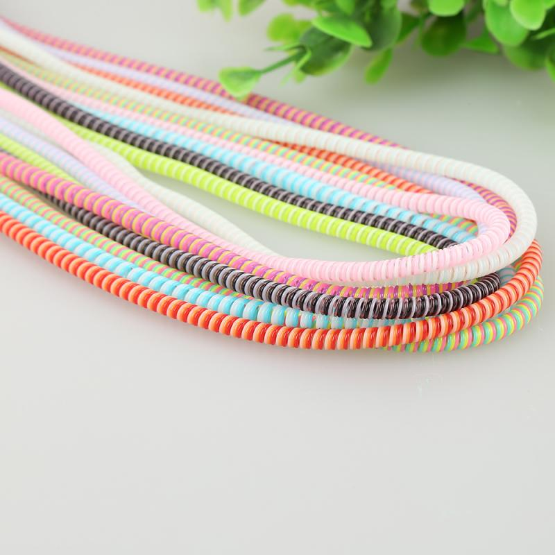 1.4M MIX Color Phone Wire Cord Rope Protector USB Charging Cable Bobbin Winder Data Line Earphone Cover Suit Spring Sleeve Twine|Cable Winder|   - AliExpress