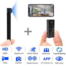1080P Double lens Camera Wireless HD Mini Wifi Camcorder Motion Detection Home Security Cam Night Vision IP P2P Nanny DVR