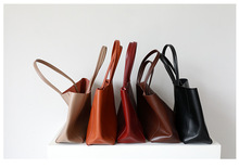 Genuine Leather Casual Tote Bag In Shopping Bags Large Capacity Top-handle Womens Shoulder Computer For Ladies Top