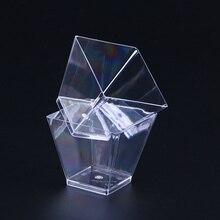 Dessert Cups Hard-Trapezoid Disposable Transparent 60ML 100PCS Square Food-Grade