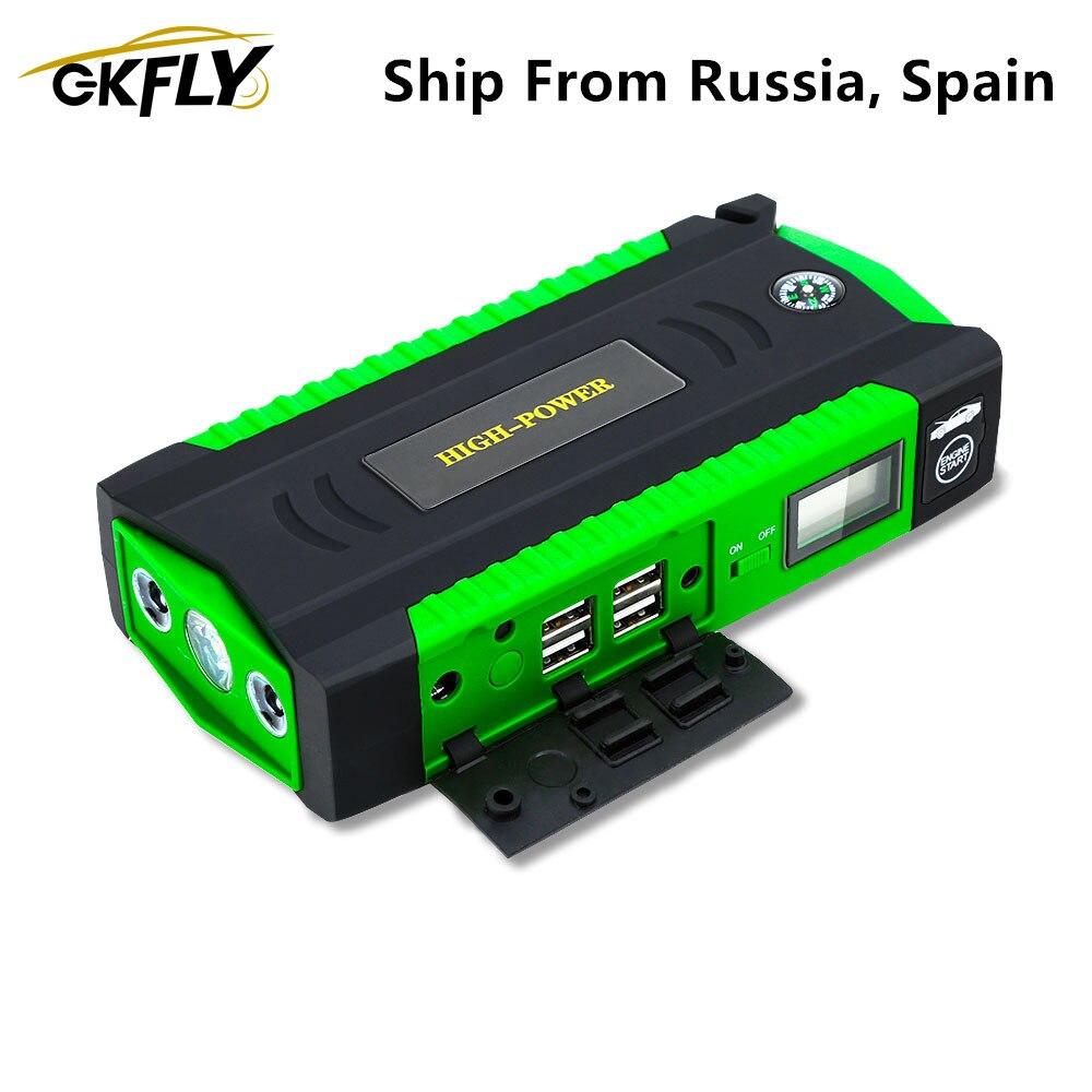 GKFLY Car Jump Starter 16000mAh 12V Car Battery Booster Charger 600A Starting Device Power Bank Petrol Diesel Car Starter Buster