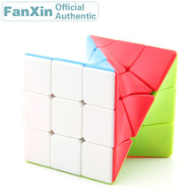 цена на FanXin Twisted 3x3x3 Magic Cube 3x3 Torsional Professional Speed Puzzle Twisty Brain Teaser Antistress Educational Toys For Kids