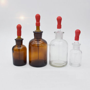 30ml 60ml 125ml Clear Or Brown Glass Dropper Bottle Dropping Reagent Flask Lab Chemistry Container Glassware 500ml 24 40 glass erlenmeyer flask chemistry conical bottle lab glassware