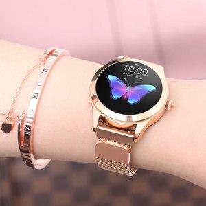 Image 5 - KW10 חכם שעון נשים IP68 עמיד למים ניטור קצב לב Bluetooth עבור אנדרואיד IOS כושר צמיד Smartwatch pk H2 H1