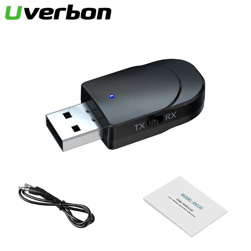 2In1 Bluetooth 5.0 Audio Receiver Transmitter RCA 3.5mm AUX Jack Hifi Stereo USB Wireless Adapter For TV PC Car Kit MP3