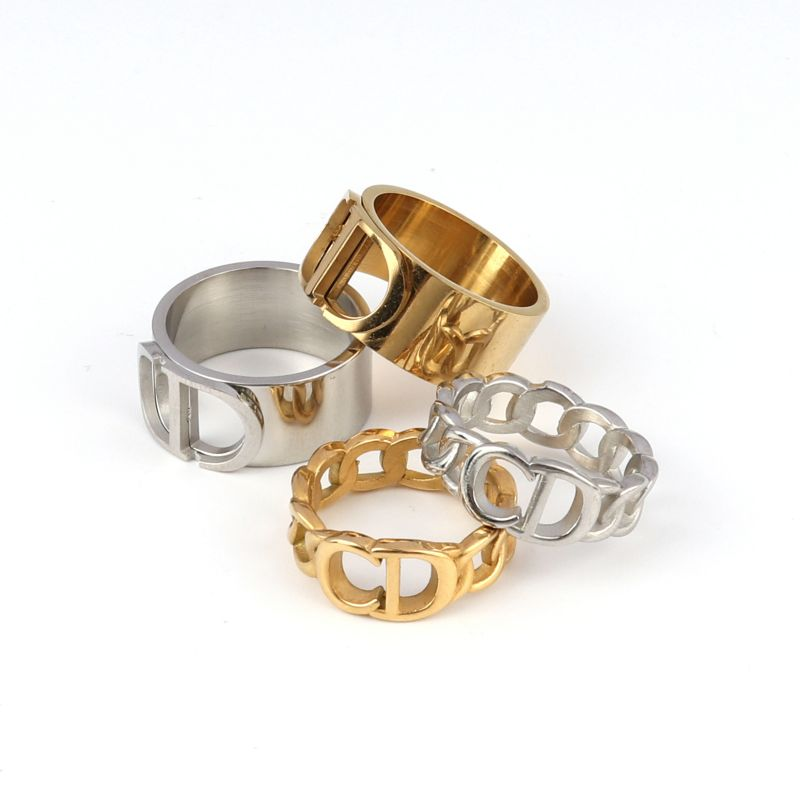 Толстая цепочка кольца в стиле «панк» из нержавеющей стали, кольца для женщин, модное кольцо на палец для женщин кольца с фианитами Золотое кольцо ювелирные изделия